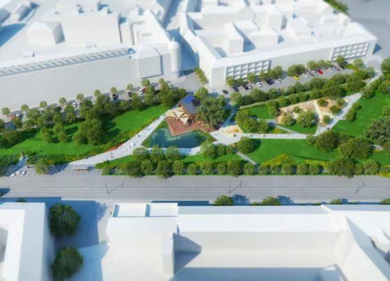 Tavat és játszóteret kap a teljesen megújuló Petőfi tér